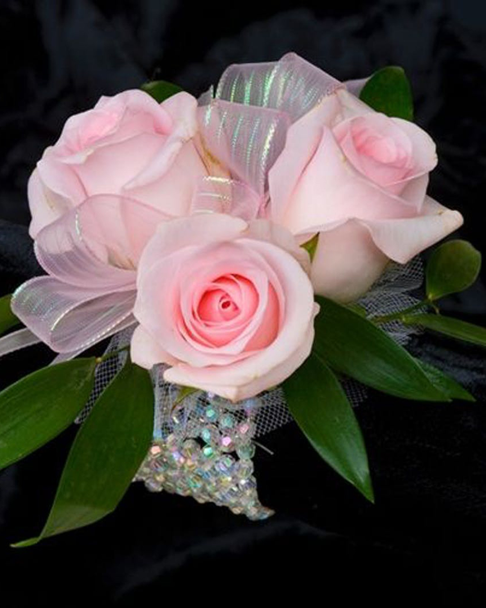 With 3 Pink Roses-Standard