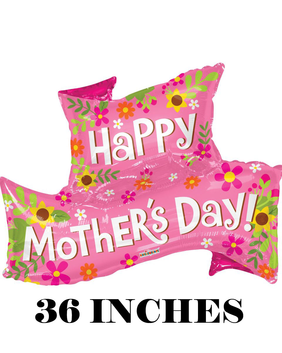 36 in Mothers Day Banner Mylar