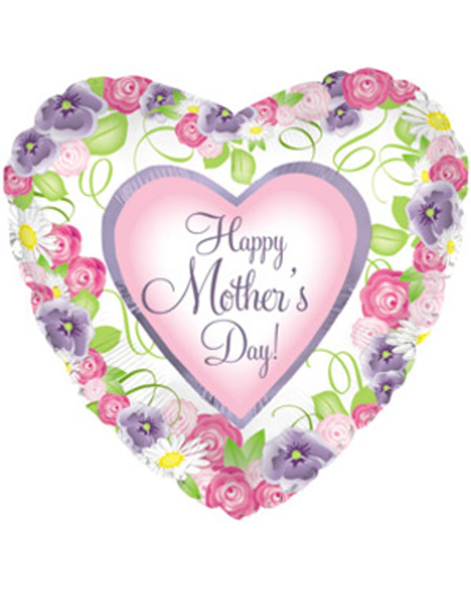 Happy Mothers Day Heart Shaped Mylar-31 Inches