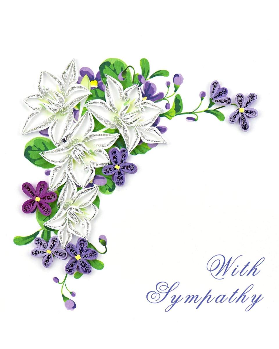 Floral Sympathy Caed