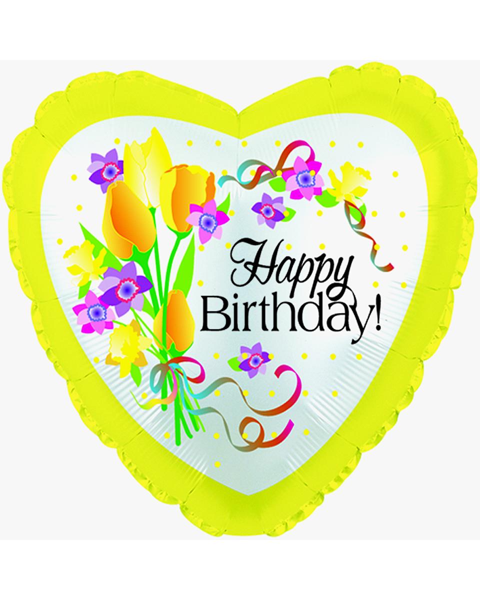 Birthday Floral Mylar