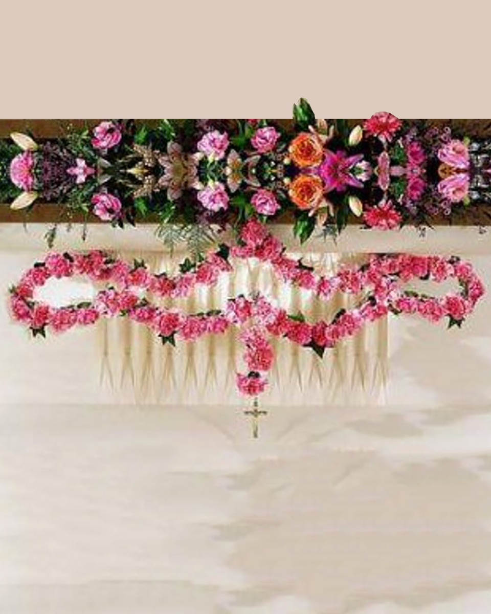 50 Pink Carnation Rosary