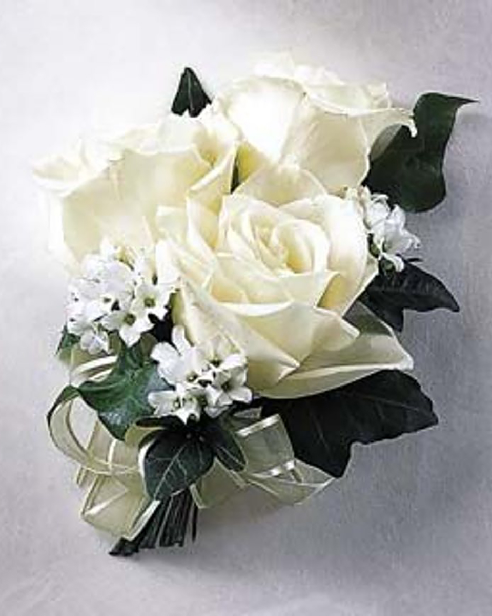 With 3 White Roses-Standard