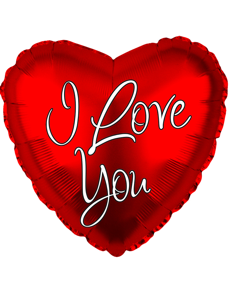 I Love You Heart Mylar