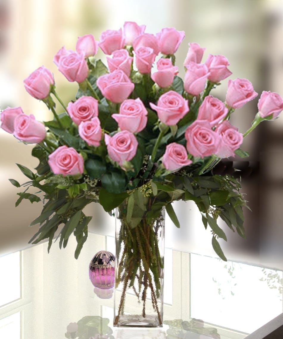 24 Pink Roses-Standard