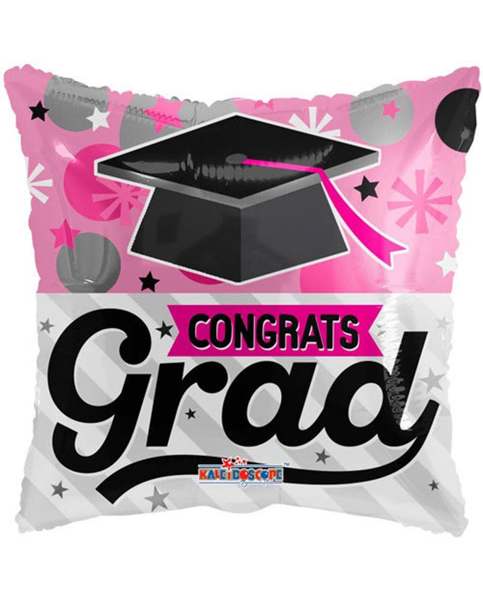 Congrats Grad Mylar Pink