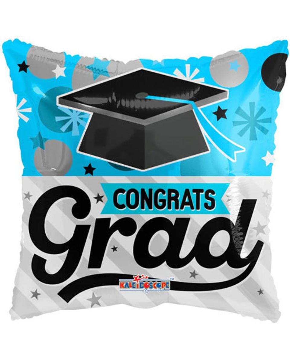Congrats Grad Mylar Blue