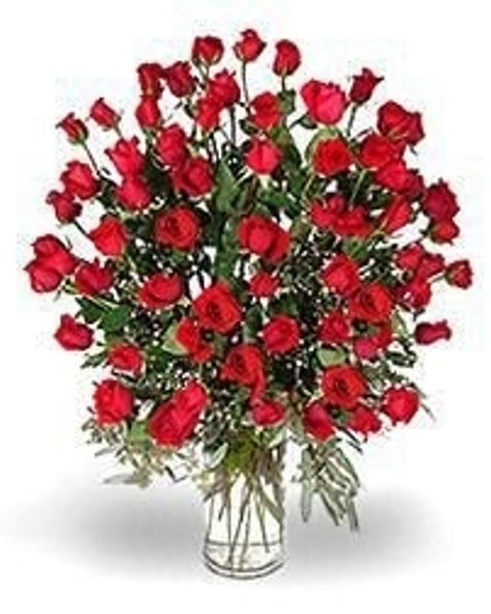 60 Red Roses-Premium