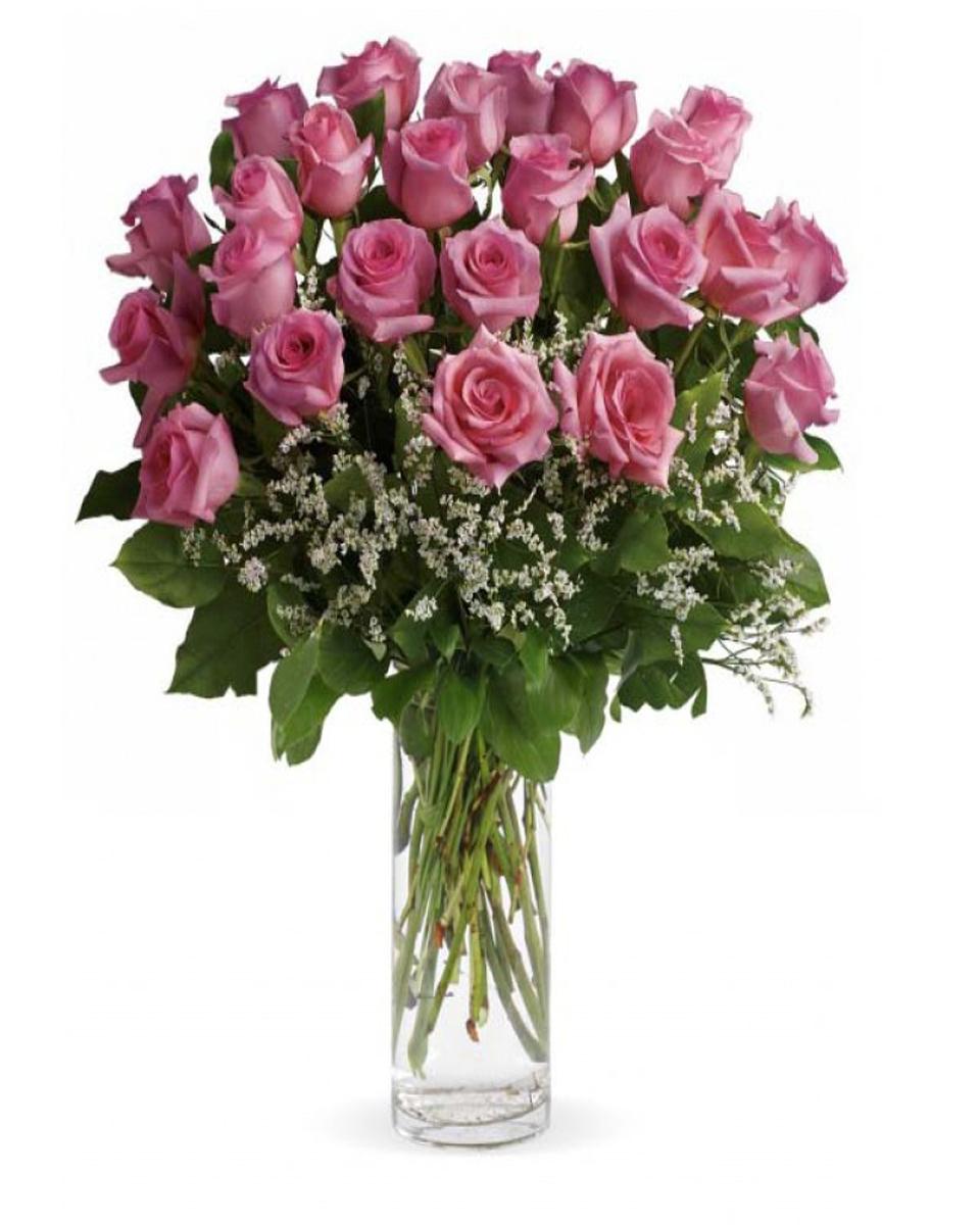 24 Pink Rose Arrangement-Premium
