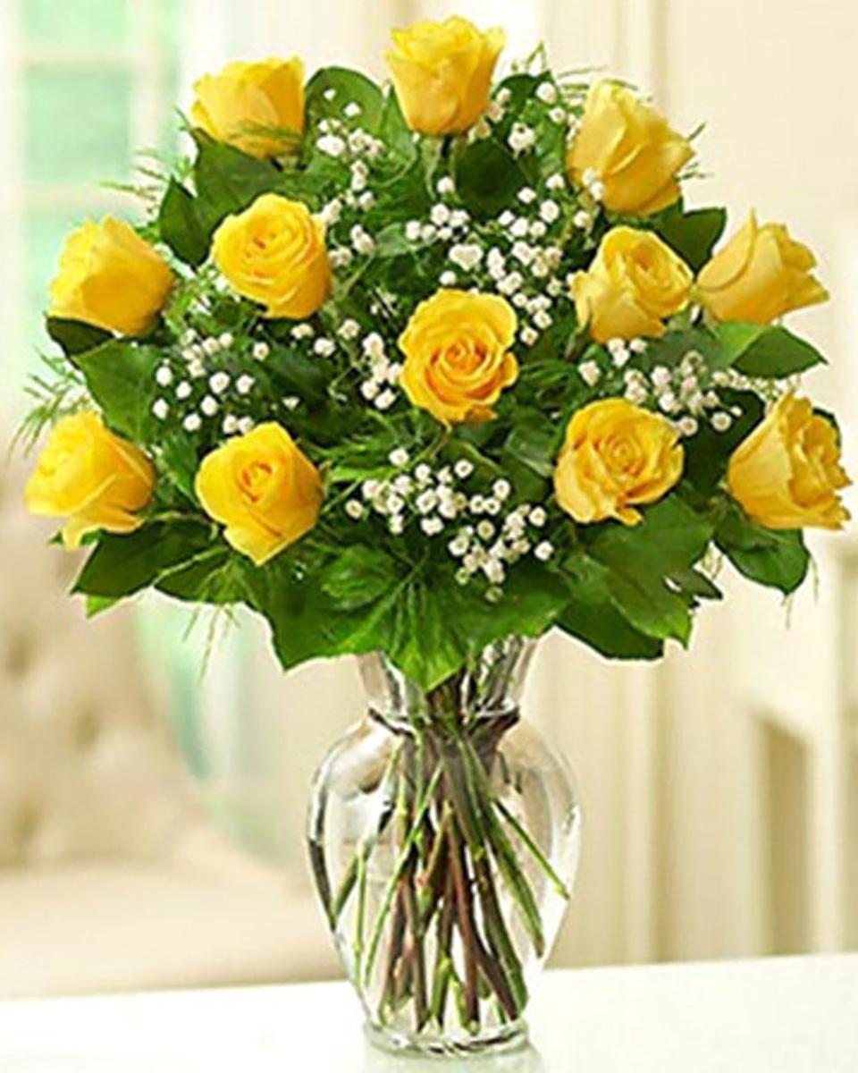 12 Yellow Roses-Standard