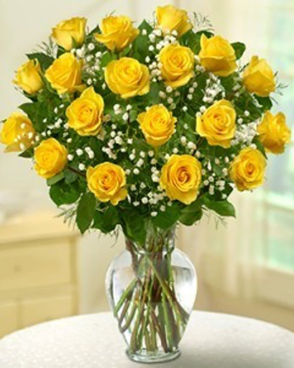 18 Yellow Roses-Deluxe