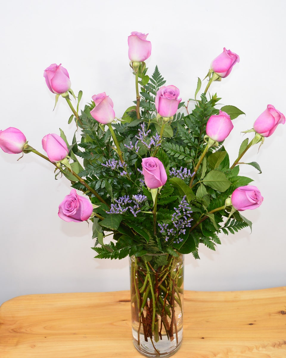 12 Purple Roses-Standard