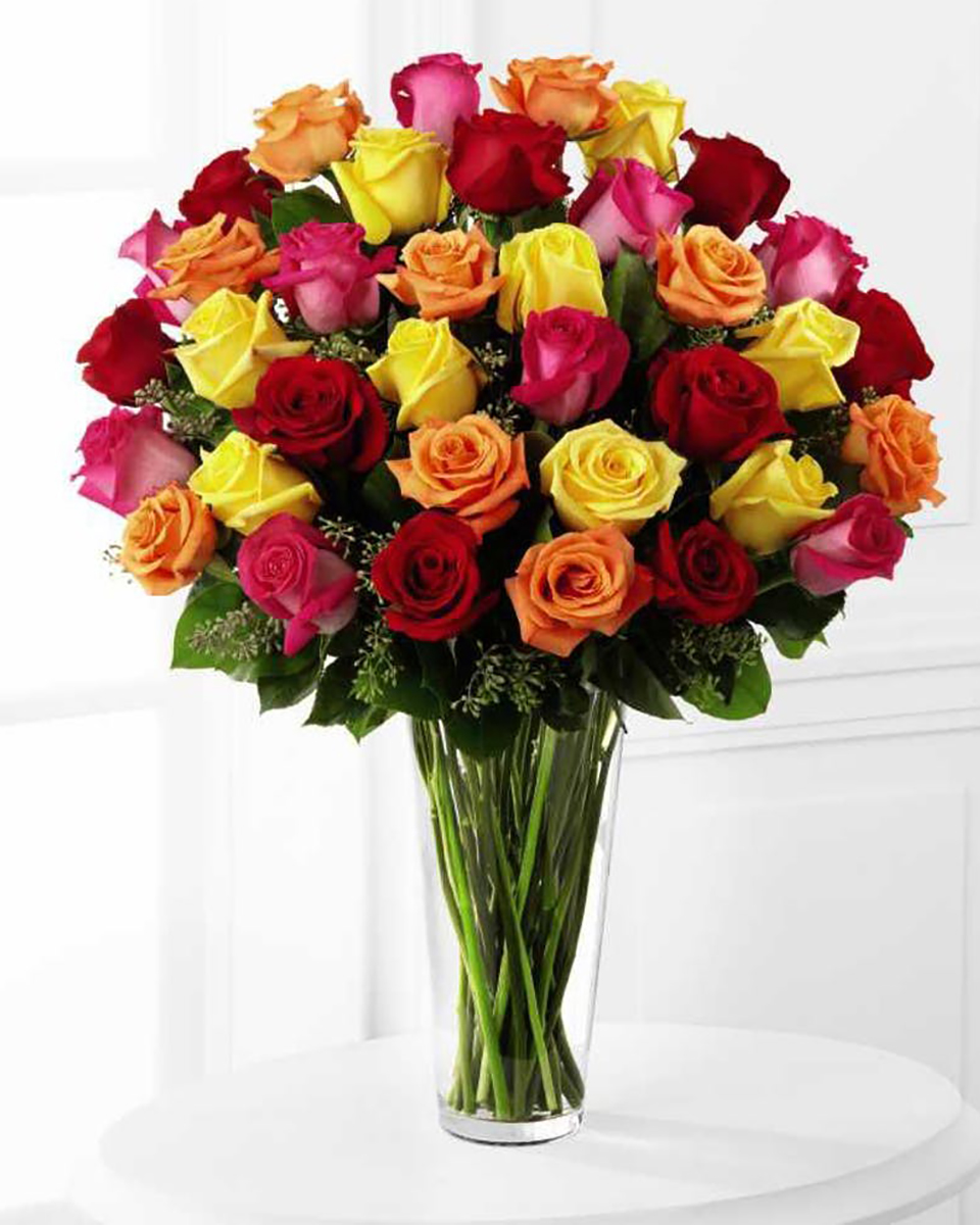 36 Mixed Roses-Standard