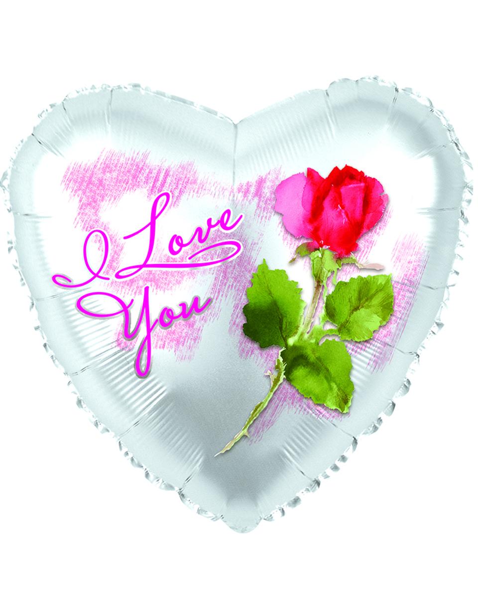 I Love You Rose Mylar