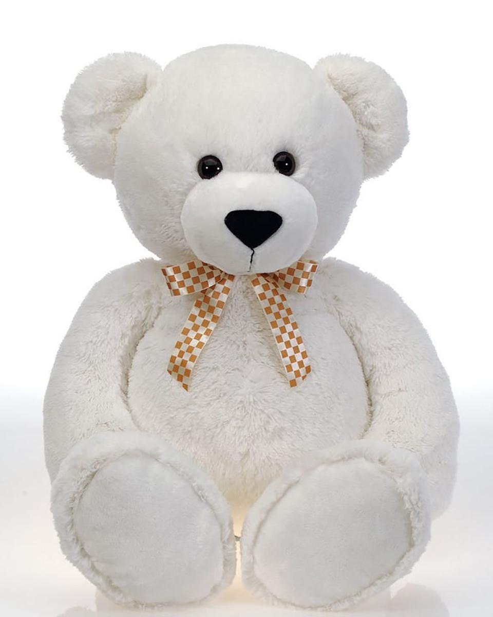 38 in White Cuddle Bear