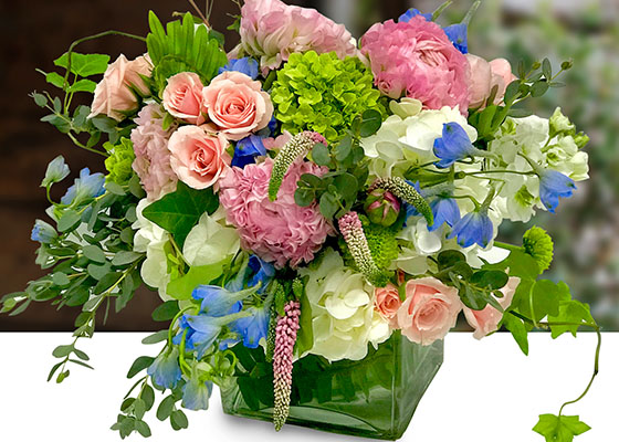 Trendy Flower Cubes