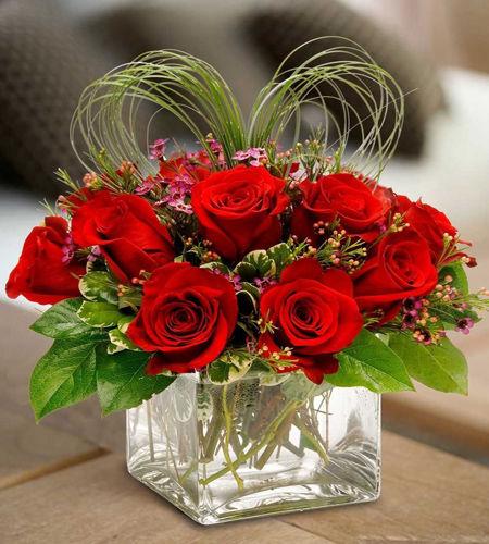 Valentine's Day Rose Cube