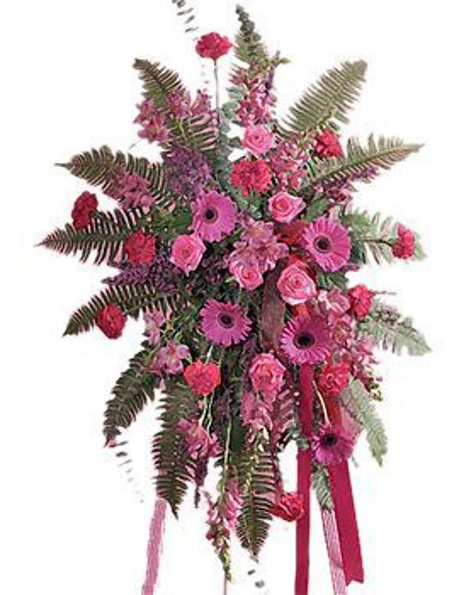 Pink Treasures Standing Spray-Standard