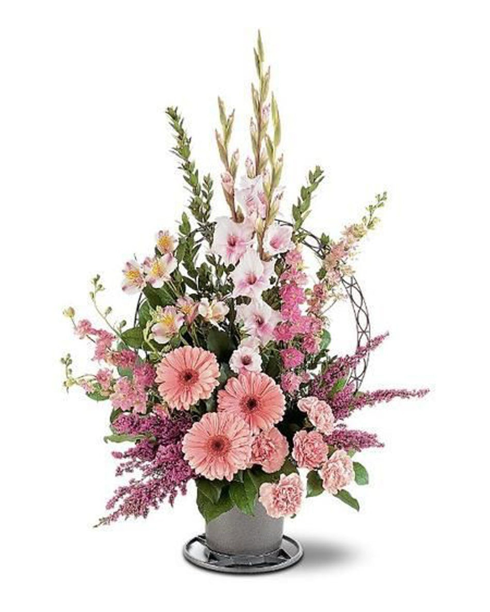 Pink Floral Tribute-Standard