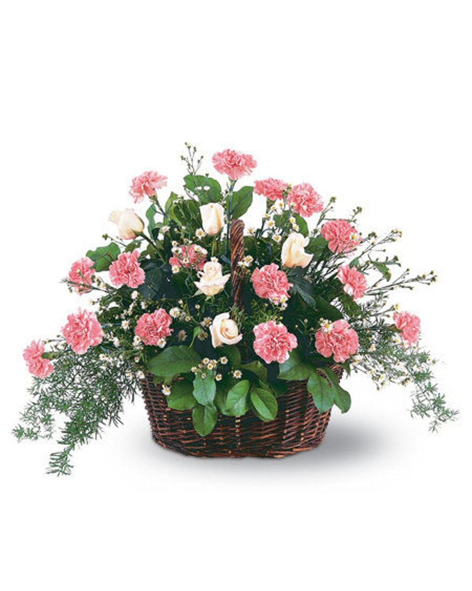 Pink Reverence Basket-Standard