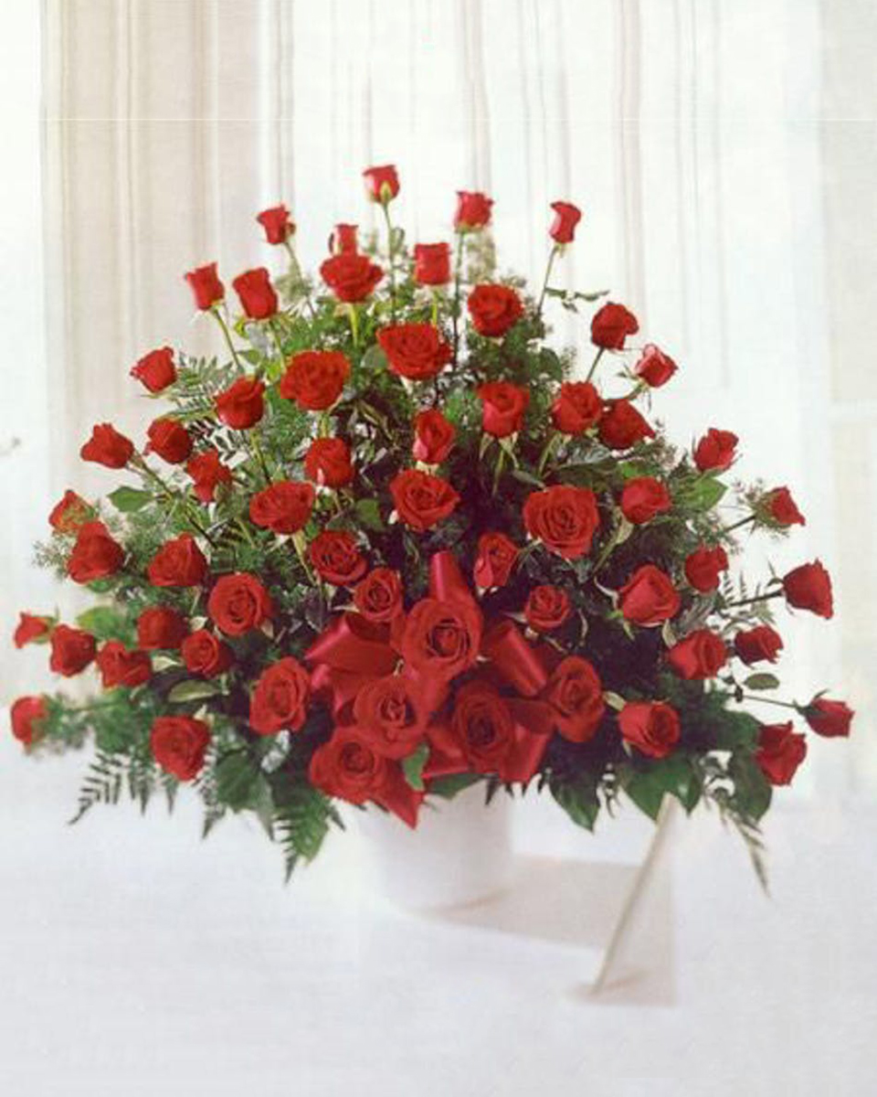 Red Rose Tribute-Standard (60 Red Roses)