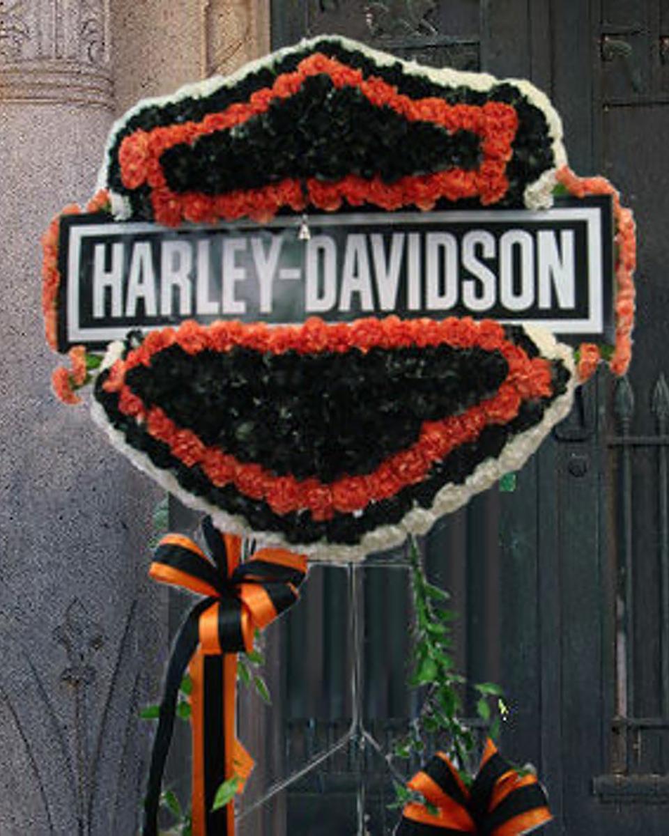 Custom-Harley Davidson Standing Wreath-Standard