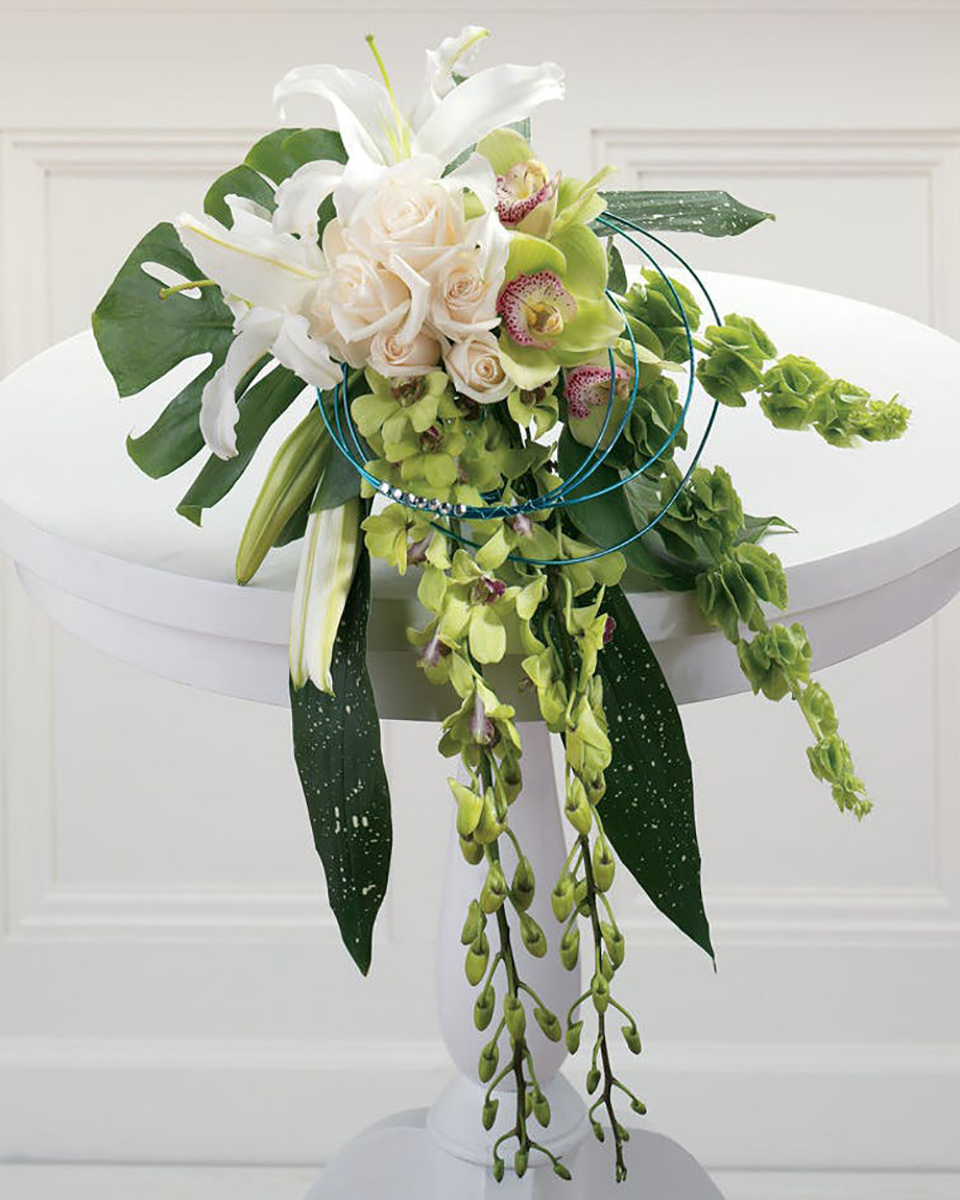 Exotic Draping Bridal Bouquet-Standard
