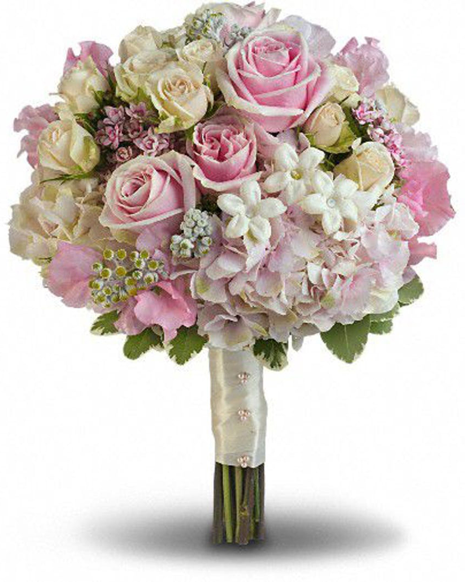 Pink and White Bridal Bouquet-Standard
