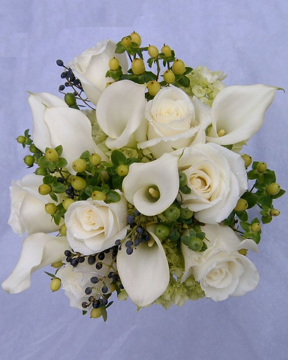 Very Berry Bridal Bouquet-Standard (7 Roses & 7 Callas)