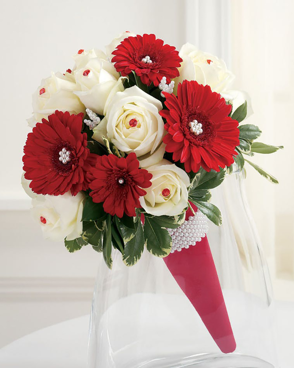 Cone of Roses Bridesmaid Bouquet-Standard