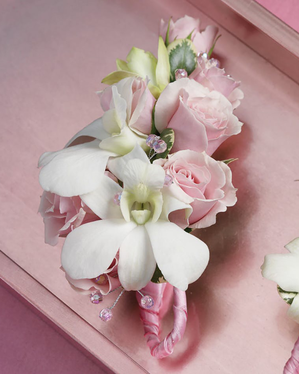 Rose and Dendro Corsage-Standard
