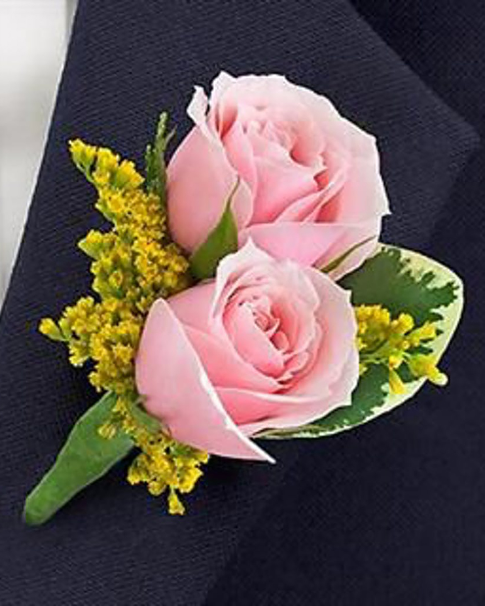 Double Pink Rose Bout-Standard