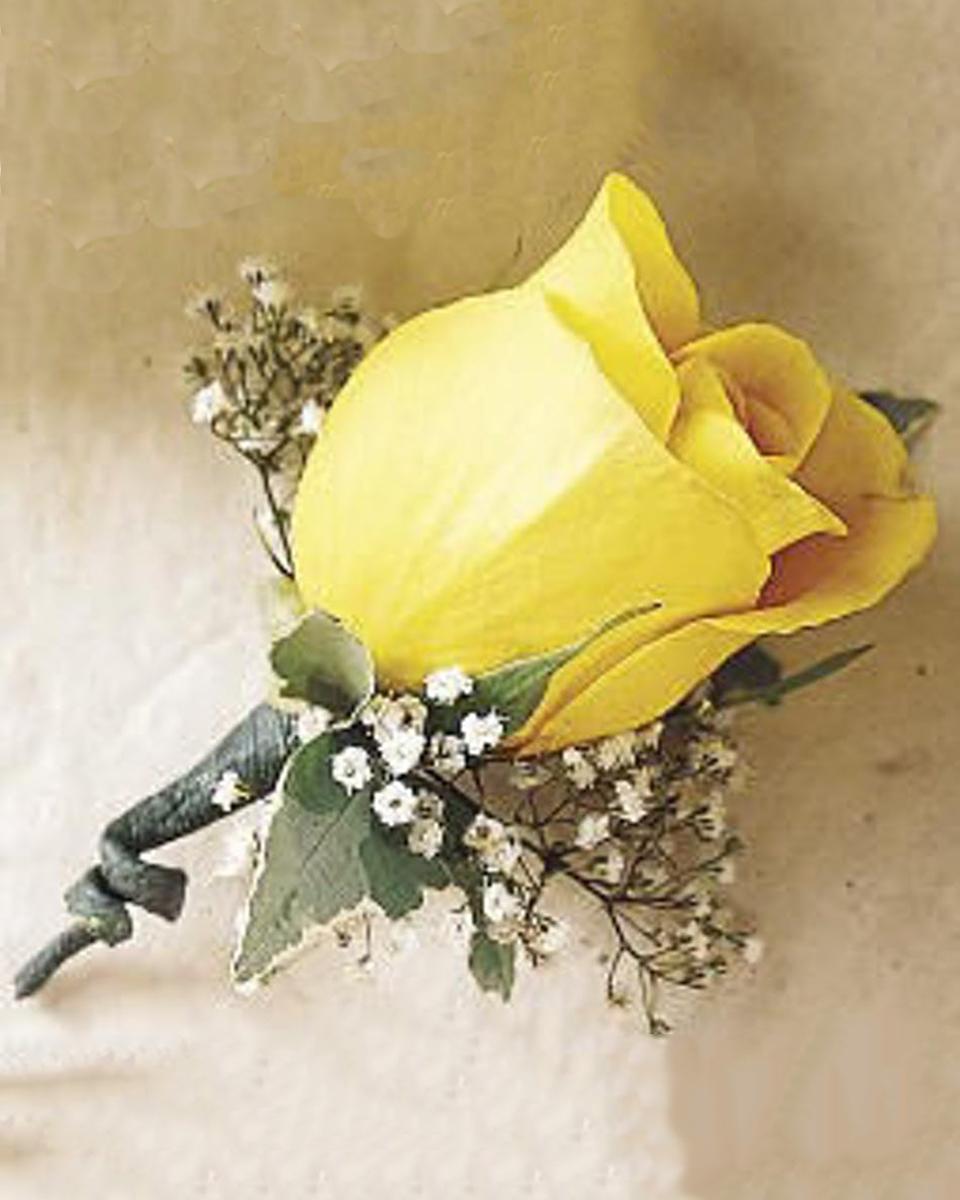 Yellow Rose Boutonnierre-Standard