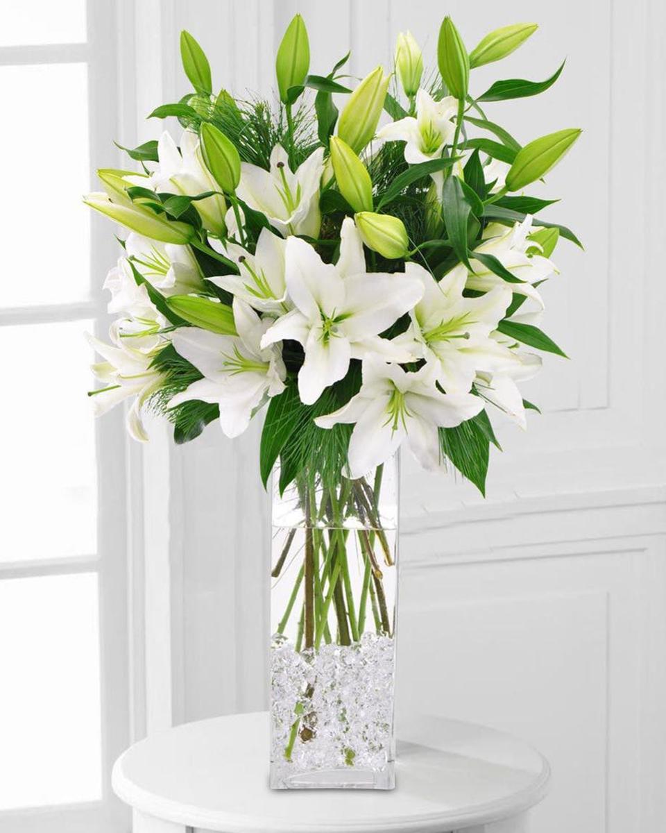 Winter White Lilies-Standard